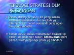 tipologi strategi dlm persaingan