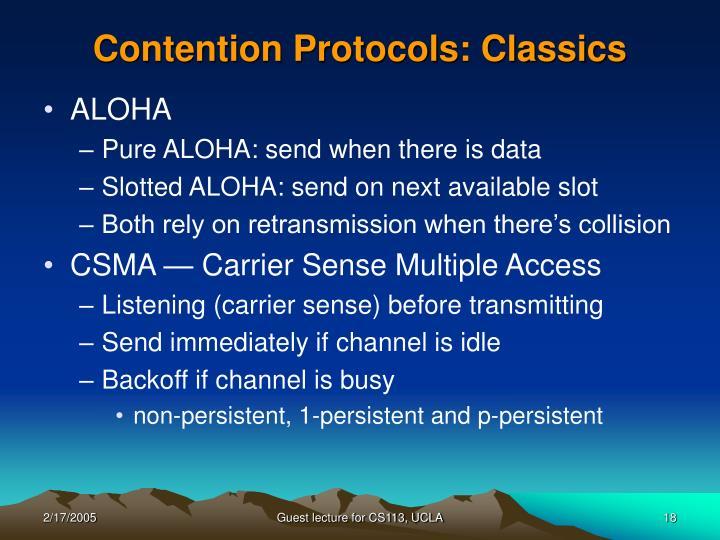 Contention Protocols: Classics