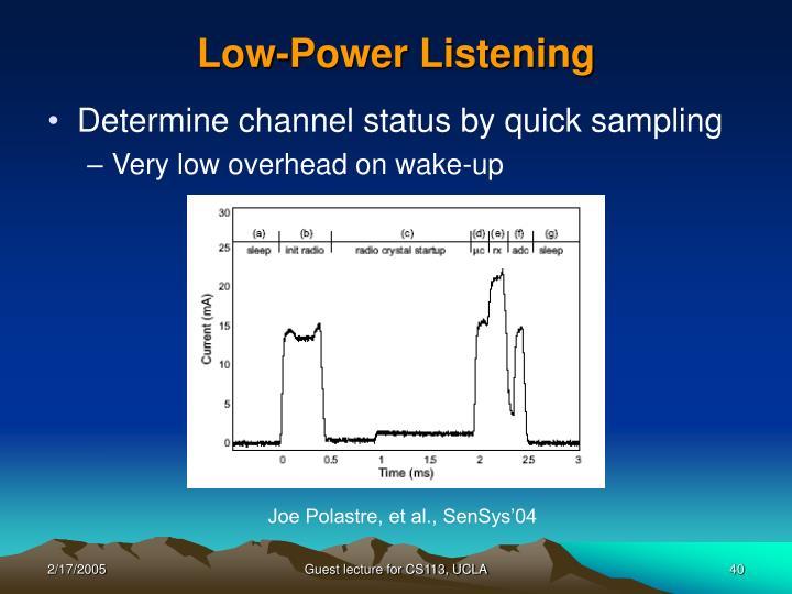 Low-Power Listening