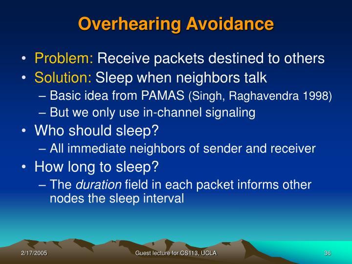 Overhearing Avoidance