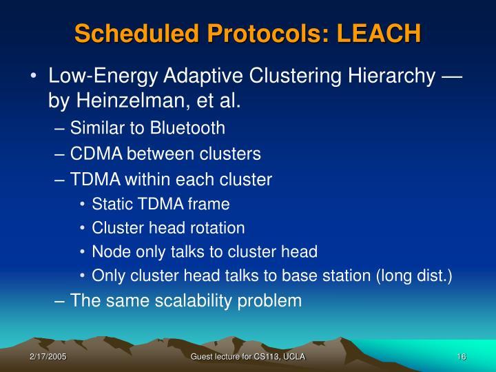 Scheduled Protocols: LEACH