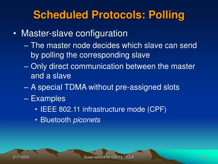 Scheduled Protocols: Polling
