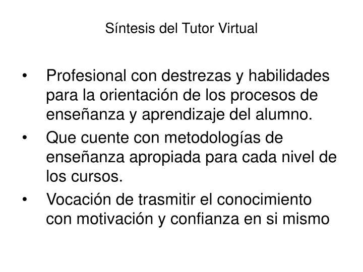 S ntesis del tutor virtual
