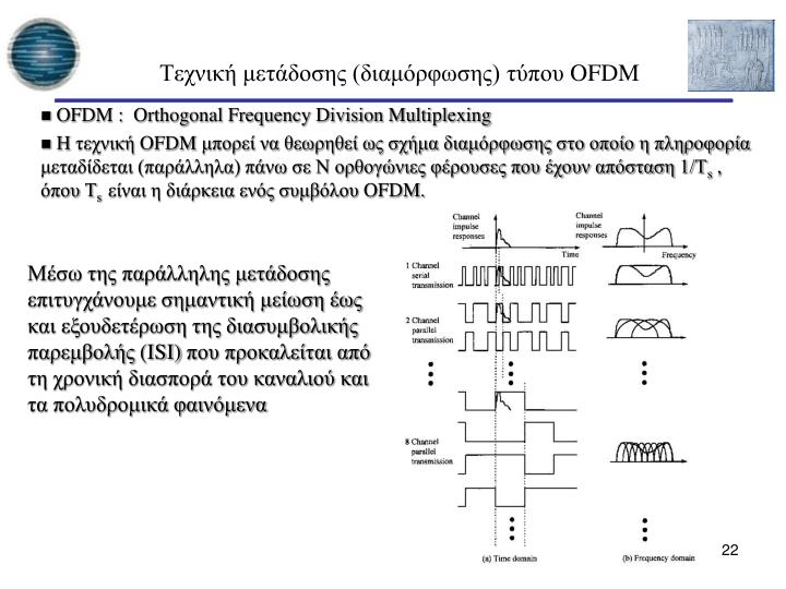 OFDM :  Orthogonal Frequency Division Multiplexing