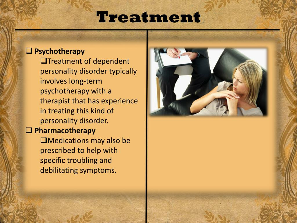 PPT - Dependent Personality Disorder PowerPoint Presentation