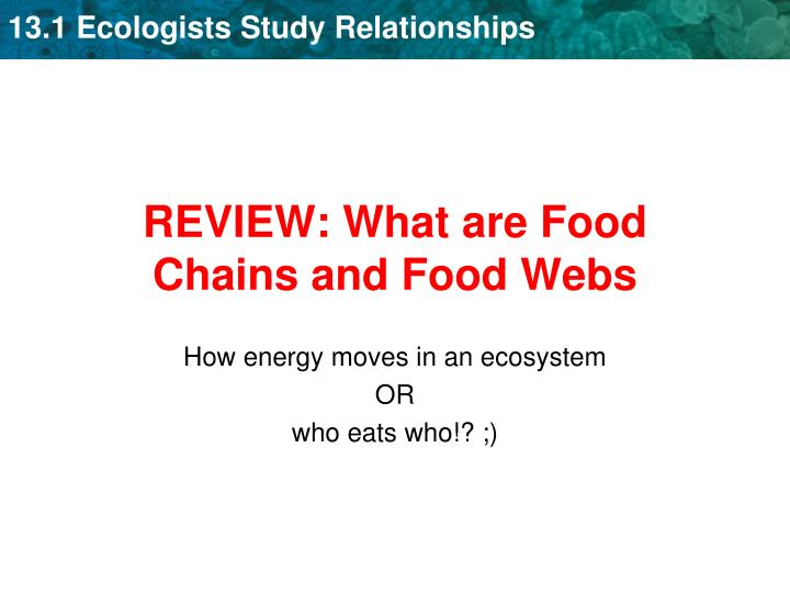 REVIEW: What are Food