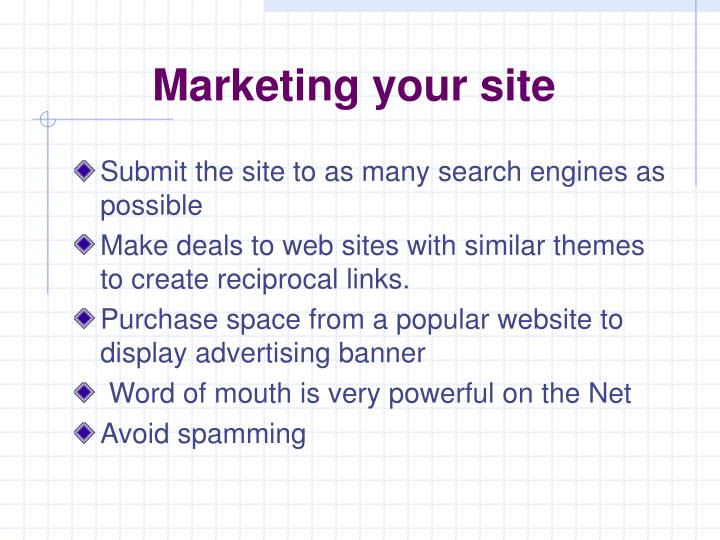 Marketing your site