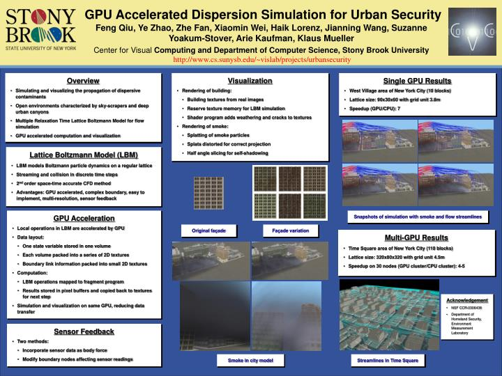 PPT - GPU Accelerated Dispersion Simulation for Urban