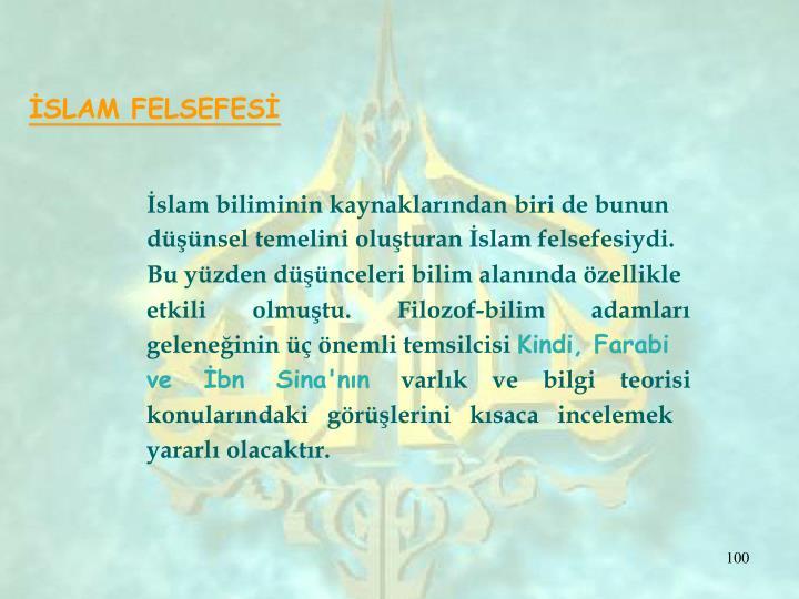İSLAM FELSEFESİ