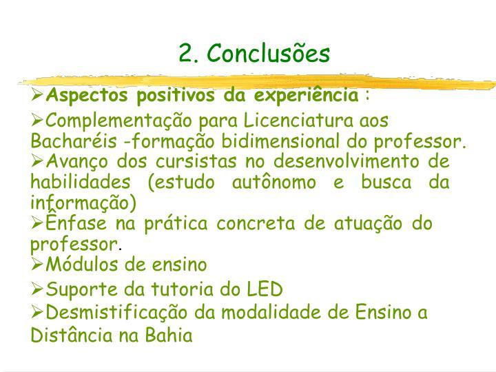 2. Conclusões