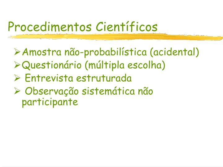 Procedimentos Científicos