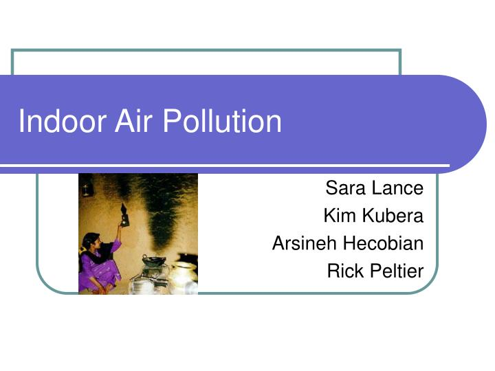 indoor air pollution n.