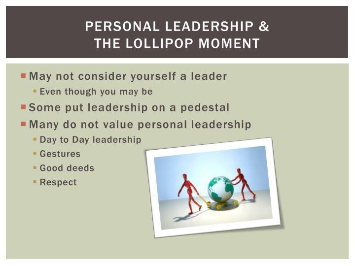 Personal Leadership &