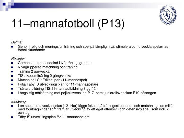 11–mannafotboll (P13)
