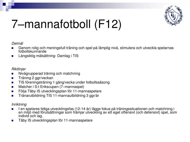 7–mannafotboll (F12)