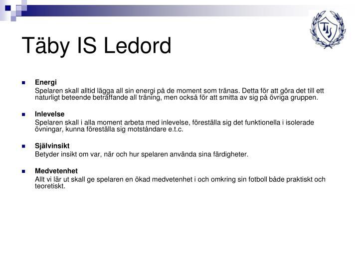 Täby IS Ledord