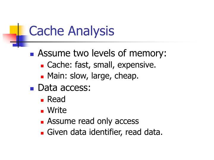 Cache Analysis