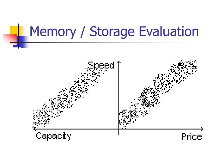 Memory / Storage Evaluation