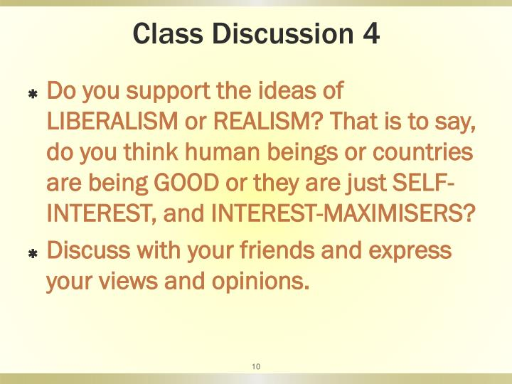 Class Discussion 4