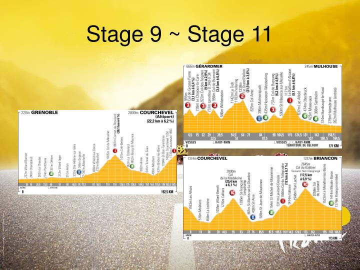 Stage 9 ~ Stage 11
