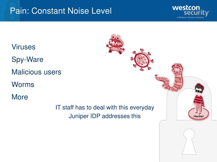 Pain constant noise level