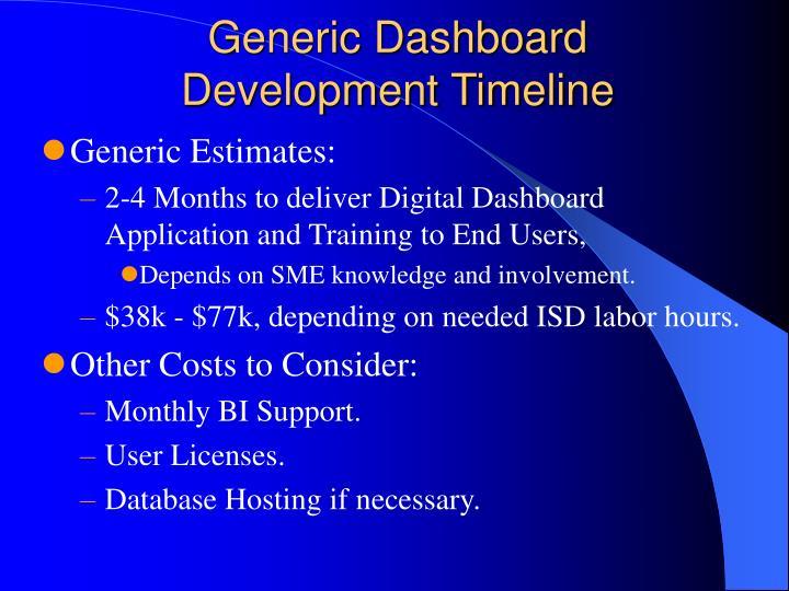 Generic Dashboard