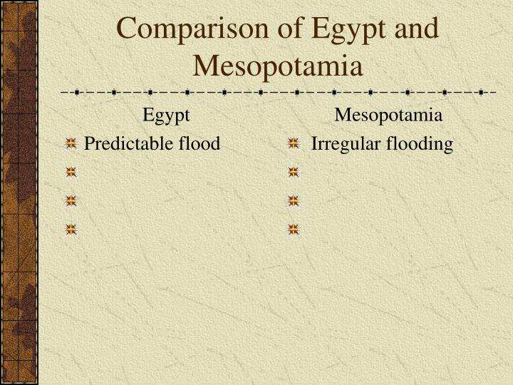 comparison of egypt and mesopotamia Quizlet provides compare and contrast mesopotamian and egyptian civilization activities, flashcards and games mesopotamia, egypt, india.