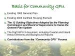 basis for community gpu