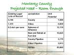 monterey county projected need room enough