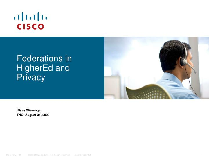 federations in highered and privacy