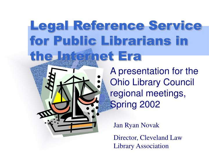 legal reference service for public librarians in the internet era n.