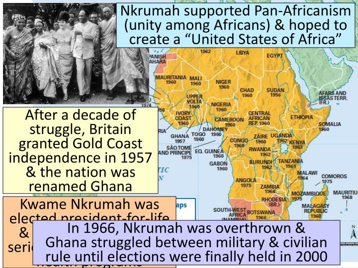 Nkrumah supported Pan-
