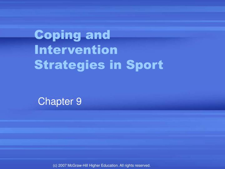 coping and intervention strategies in sport n.