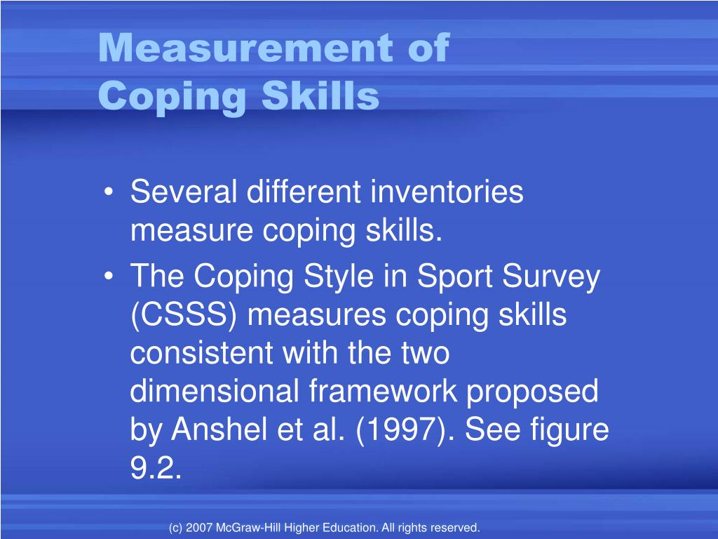 PPT - Coping and Intervention Strategies in Sport PowerPoint