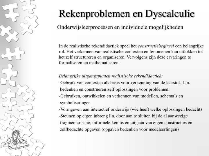 Rekenproblemen en dyscalculie1