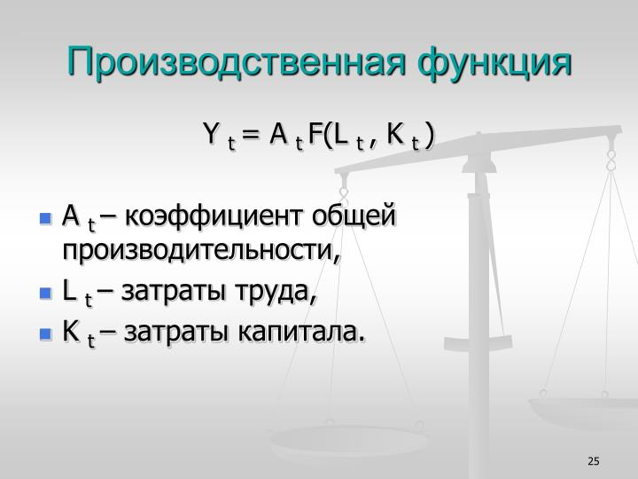 Производственная функция