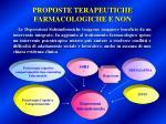 proposte terapeutiche farmacologiche e non