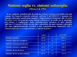 sintomi soglia vs sintomi sottosoglia olfson et al 1996