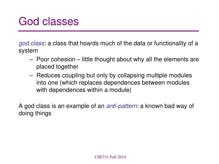 God classes