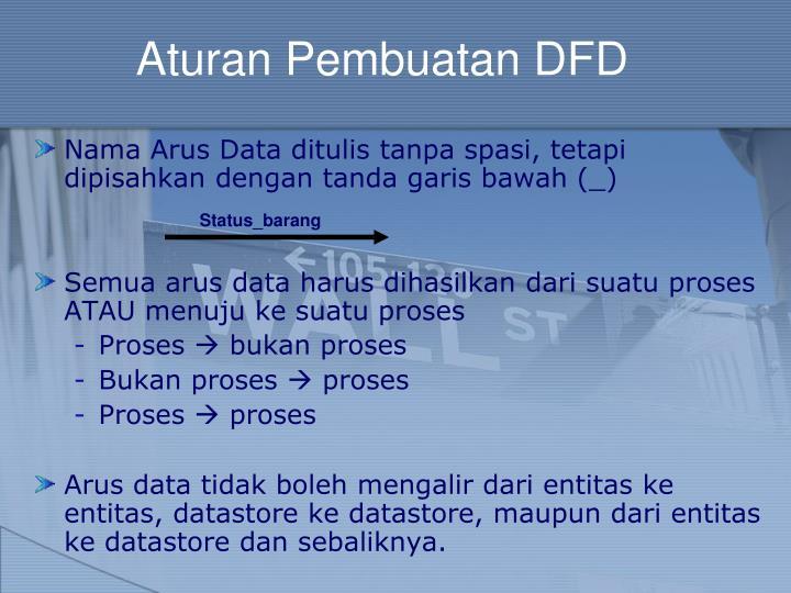 Aturan Pembuatan DFD