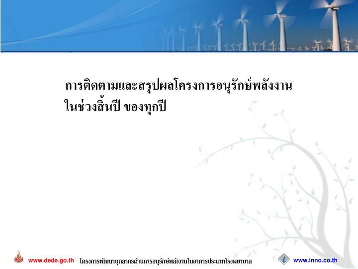 การติดตามและสรุปผลโครงการอนุรักษ์พลังงาน