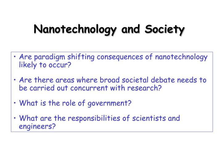 Nanotechnology and Society