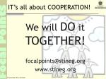 it s all about cooperation