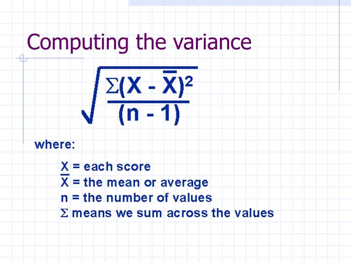 Computing the variance