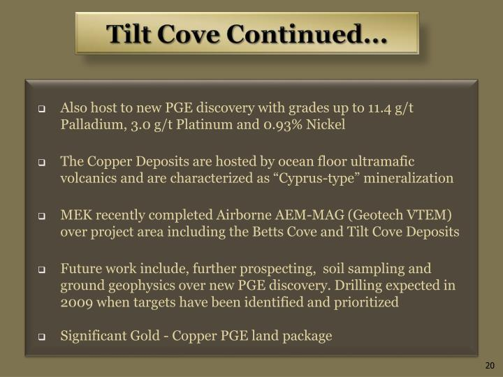Also host to new PGE discovery with grades up to 11.4 g/t Palladium, 3.0 g/t Platinum and 0.93% Nickel