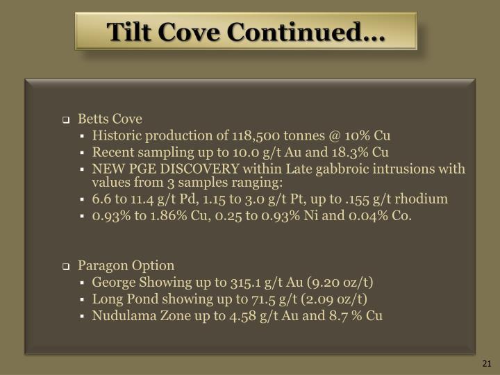 Tilt Cove Continued…