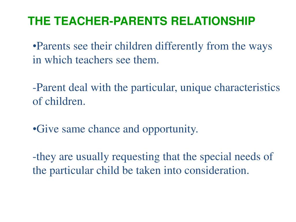 PPT - THE TEACHER'S VIEW OF SCHOOL AND THE STUDENT'S VIEW OF