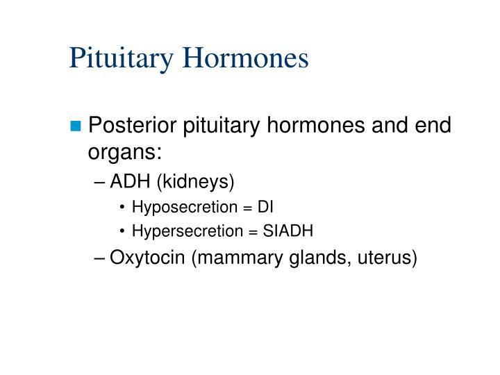 hyposecretion and hypersecretion