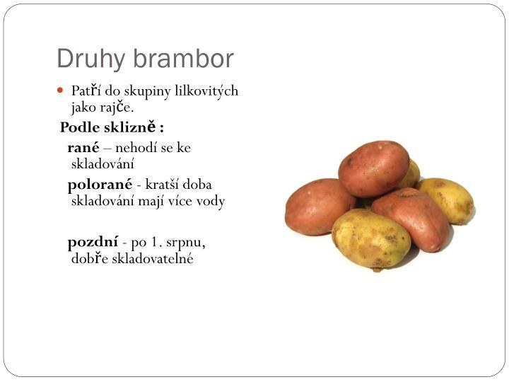 Druhy brambor