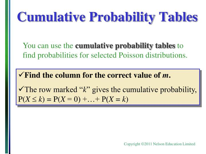 Ppt the binomial experiment powerpoint presentation id - Cumulative poisson distribution table ...